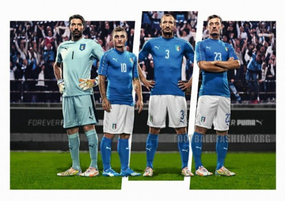 Italy EURO 2016 PUMA Blue Home Football Kit, Soccer Jersey, Shirt, Gara, Maglia, Camiseta