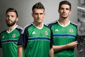 Northern Ireland EURO 2016 adidas Home and Away Football Kit, Soccer Jersey, Shirt