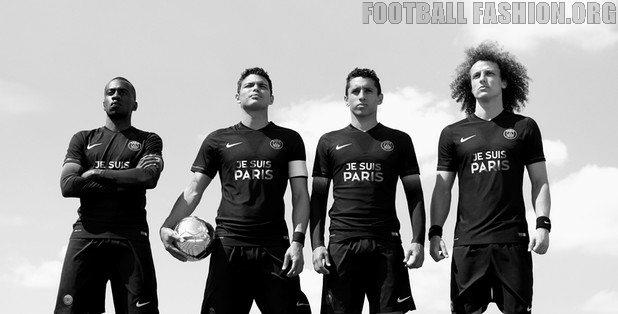 """Paris Saint-Germain Replace Sponsor Logo with """"Je Suis Paris"""""""