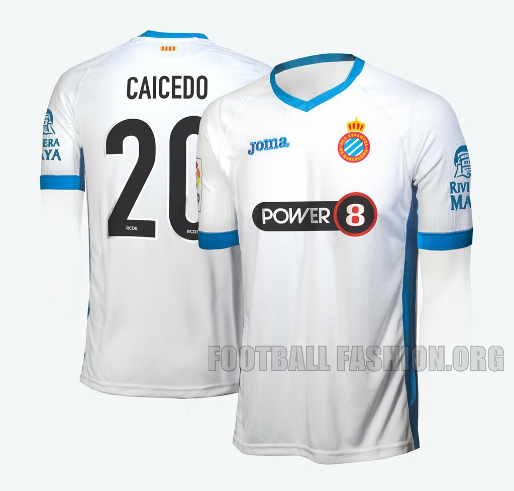 ... rcd espanyol 201520 16 joma white third football kit soccer jersey shirt  camiseta b0f801f7b