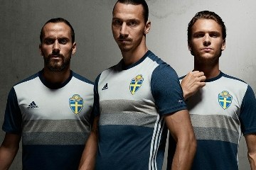 Sweden EURO 2016 Blue adidas Away Football Kit, Soccer Jersey, Shirt, Sverige SvFF matchtröja