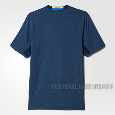 Sweden EURO 2016 Blue adidas Away Football Kit, Soccer Jersey, Shirt, Sverige SvFF matchtröja