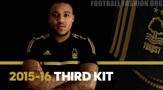 Nottingham Forest 150th Anniversary 2015 2016 Away and Third Football Kit, Soccer Jersey, Shirt