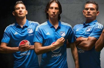 Millonarios Futbol Club 2016 adidas Home and Away Football Kit, Soccer Jersey, Camiseta, Equipacion