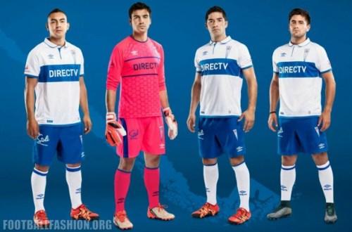 Universidad Católica 2016 Umbro Home and Away Football Kit, Soccer Jersey, Shirt, Camiseta de Futbol, Playera, Equipacion