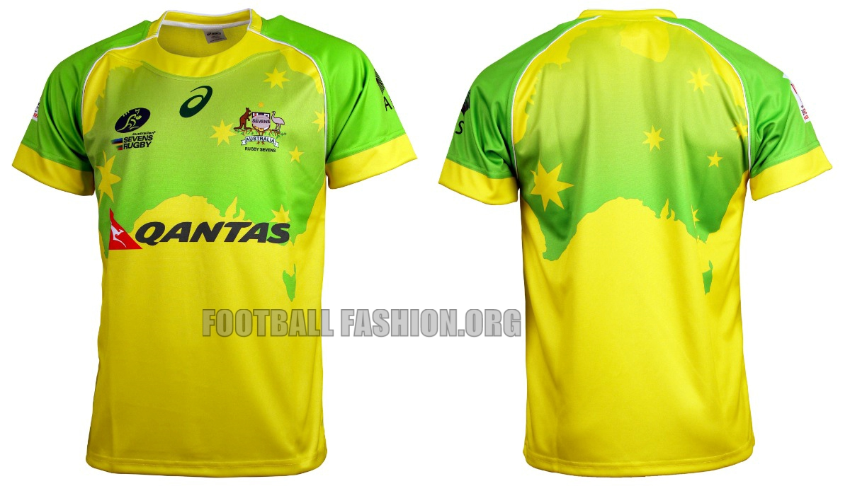 Australia Rugby Sevens 2016 Asics Home And Away Jerseys Football