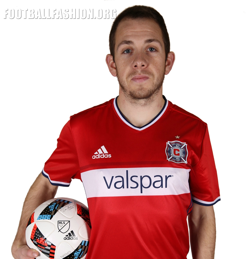 more photos aed13 71962 Chicago Fire 2016 adidas Home Jersey - FOOTBALL FASHION.ORG