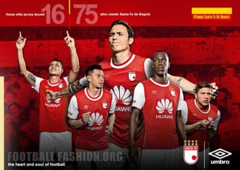 Independiente Santa Fe 2016 Umbro Home and Away Football Kit, Soccer Jersey, Shirt, Camiseta de Futbol, Equipacion, Piel