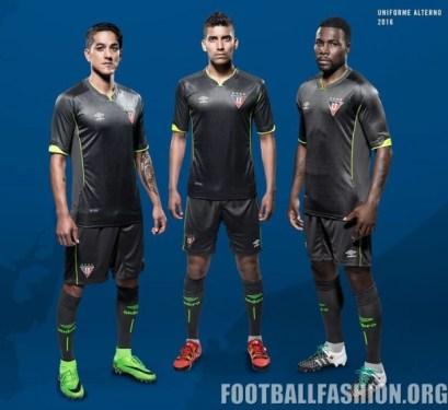 LDU Quito 2016 Umbro Home, Away and Third Football Kit, Soccer Jersey, Shirt