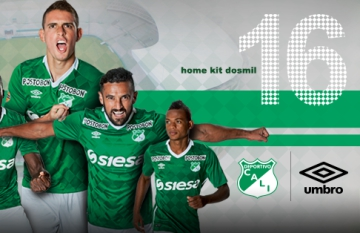 Deportivo Cali 2016 Umbro Home, Away and Third Football Kit, Soccer Jersey, Shirt, Camiseta de Futbol