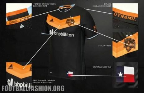 Houston Dynamo 2016 adidas Away Soccer Jersey, Shirt, Football Kit, Camiseta de Futbol