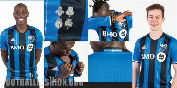 Montreal Impact 2016 adidas Home Soccer Jersey, Shirt, Football Kit, Maillot, Tenue