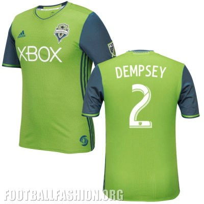 Seattle Sounders 2016 adidas Home and Third Soccer Jersey, Football Kit, Shirt, Camiseta de Futbol MLS