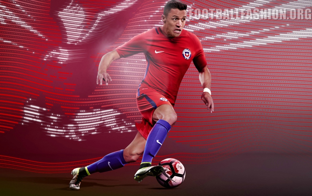 Chile 2016 Copa América Nike Home and Away Kits – FOOTBALL FASHION.ORG dd2ec8c85ee76