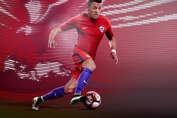 Chile 2016 Copa América Nike Home and Away Football Kit, Shirt, Soccer Jersey, Camiseta de Futbol 2017, Playera