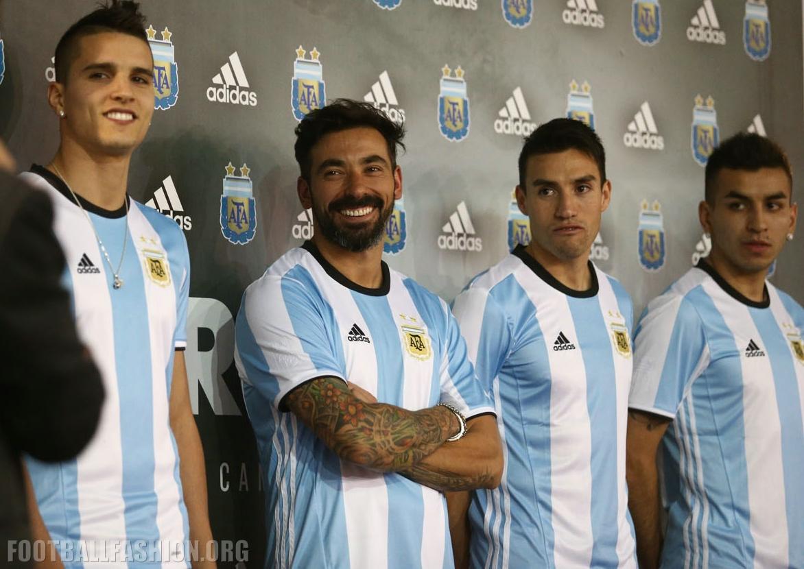 Fan Apparel & Souvenirs Argentina Jersey 2016/17 Shirt Home Adidas Soccer Copa América Sports Mem, Cards & Fan Shop
