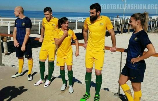 Australia 2016 2017 Nike Home and Away Soccer Jersey, Football Kit, Shirt