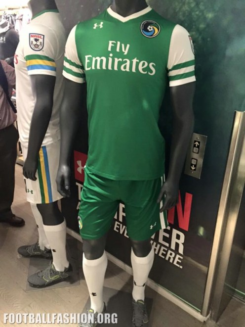 New York Cosmos 2016 Under Armour Home and Away Soccer Jersey, Shirt, Football Kit, Camiseta de Futbol