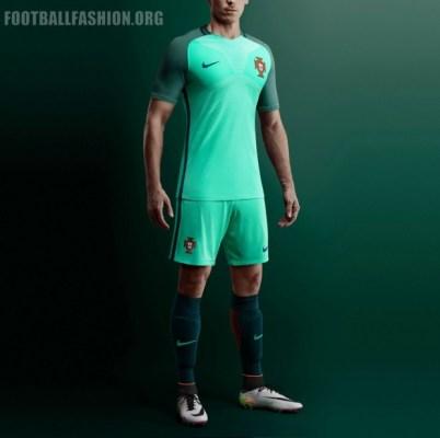 Portugal EURO 2016 Nike Home and Away Football Kit, Soccer Jersey, Shirt, Camisa, Camisola, Camiseta 2017