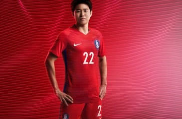 South Korea 2016/17 Nike Home and Away Football Kit, Soccer Jersey, Shirt