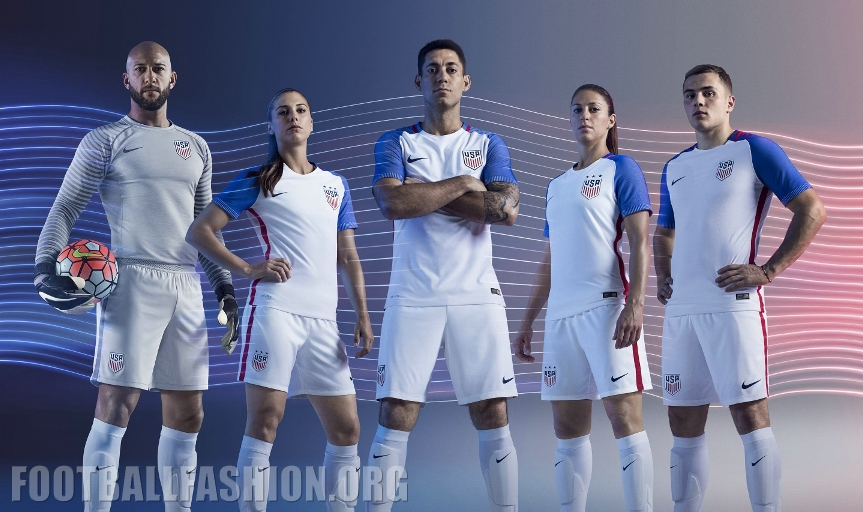 new photos c7801 60907 USA 2016 Nike Home and Away Jerseys - FOOTBALL FASHION.ORG