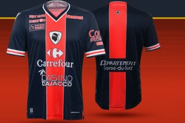GFC Ajaccio 2016 Corisican Derby Macron Football Kit, Soccer Jersey, Shirt, Maillot
