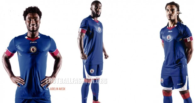 Haiti 2016 2017 Copa América Seata Home Soccer Jersey, Football Kit, Shirt, Maillot