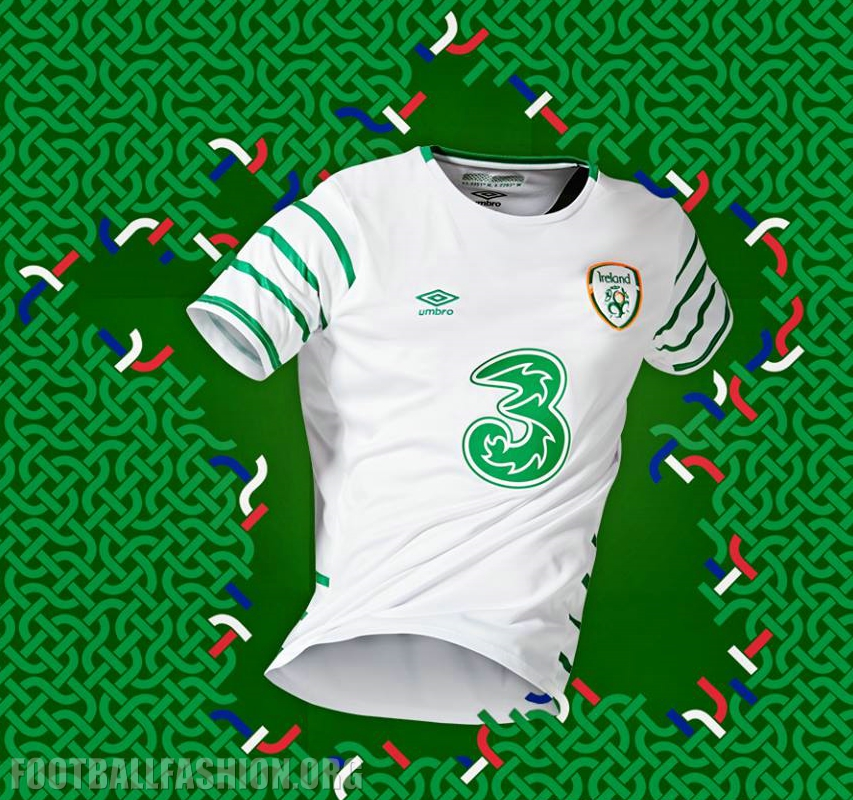 cbc71eecb6a Republic of Ireland EURO 2016 Umbro Away Kit - FOOTBALL FASHION.ORG