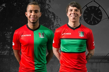 NEC Nijmegen 2016 2017 Patrick Home Football Kit, Soccer Jersey, Shirt, Thuisshirt, Tenue