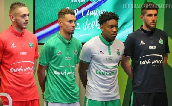 AS Saint-Étienne 2016 2017 le coq sportif Football Kit, Soccer Jersey, Shirt, Maillot