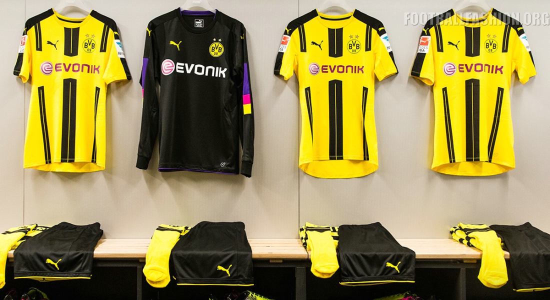 15a70d847 Borussia Dortmund 2016 17 PUMA Home Kit - FOOTBALL FASHION.ORG