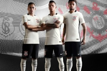 Corinthians 2016 2017 Nike Home Football Kit, Soccer Jersey, Shirt, Camiseta, Camisa
