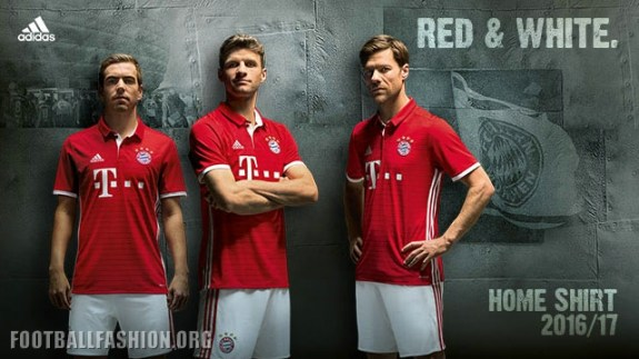 fc bayern m nchen 2016 17 adidas home kit football fashion org. Black Bedroom Furniture Sets. Home Design Ideas