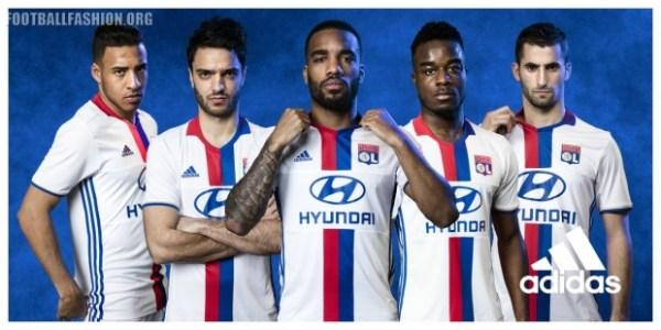 Olympique Lyon 2016 2017 adidas Home and Away Football Kit, Shirt, Jersey, Maillot