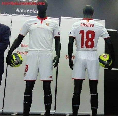 Sevilla FC 2016 2017 New Balance Home Football Kit, Soccer Jersey, Shirt, Camiseta de Futbol, Equipacion