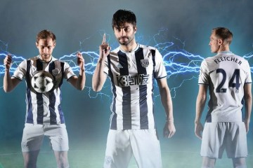 West Bromwich Albion 2016 2017 adidas Home Football Kit, Soccer Jersey, Shirt, Camiseta