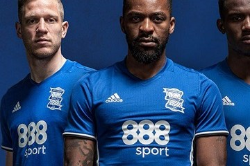 Birmingham City FC 2016 2017 adidas Home Footbak Kit, Socccer Jersey, Shirt