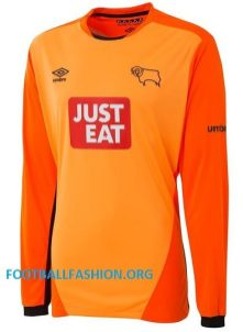 Derby County FC 2016 2017 Umbro Home Football Kit, Soccer Jersey, Shirt