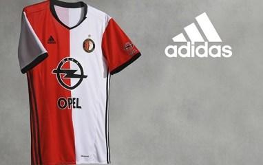 Feyenoord Rotterdam 2016 2017 adidas Home Football Kit, Soccer Jersey, Shirt, Thuistenue, Thuisshirt