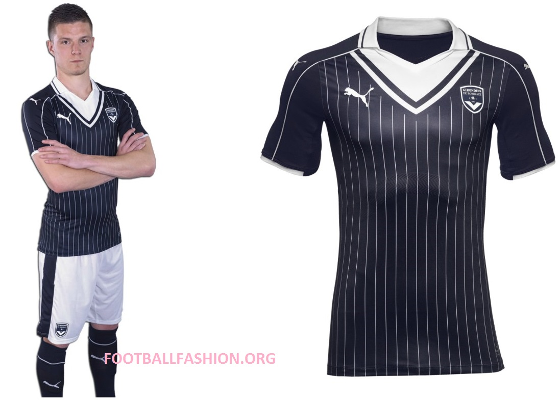 8ba376093f18 The FC Girondins de Bordeaux 2016 17 PUMA home uniform is completed by  white shorts and navy blue socks. The launch version of the strip is  unsponsored as ...
