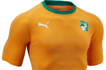 Ivory Coast 2016 2017 PUMA Home Football Kit, Shirt, Soccer Jersey, Maillot Côte d'Ivoire