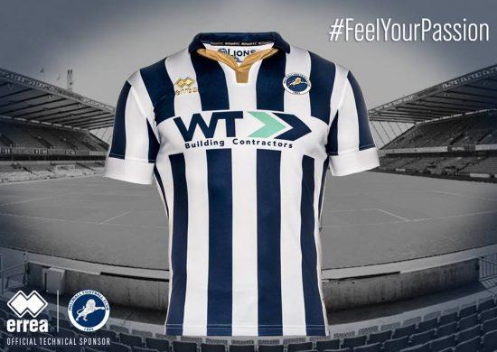 Millwall FC 2016 2017 Macron Home Football Kit, Soccer Jersey, Shirt