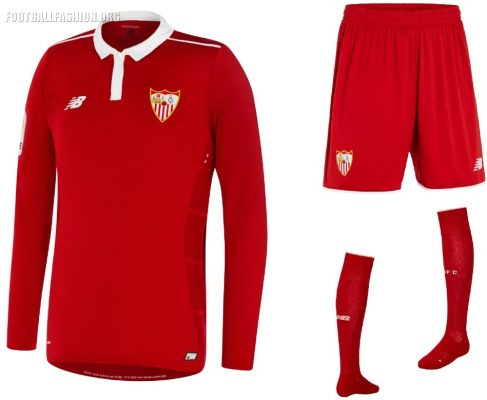 Sevilla FC 2016 2017 New Balance Red Away Football Kit, Soccer Jersey, Shirt, Camiseta de Futbol Roja, Equipacion