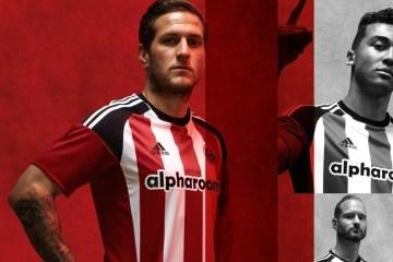 Sheffield United FC 2016 2017 adidas Home Football Kit, Soccer Jersey, Shirt