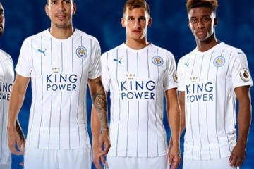 b0c247fc328 Leicester City 2016 2017 White PUMA Third Football Kit, Soccer Jersey, ...