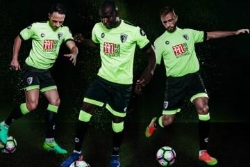 AFC Bournemouth 2016 2017 JD Sports Third Football Kit, Soccer Jersey, Shirt