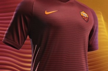 AS Roma 2016 2017 Nike Home Football Kit, Soccer Jersey, Shirt, Gara, Maglia, Camiseta, Camisa