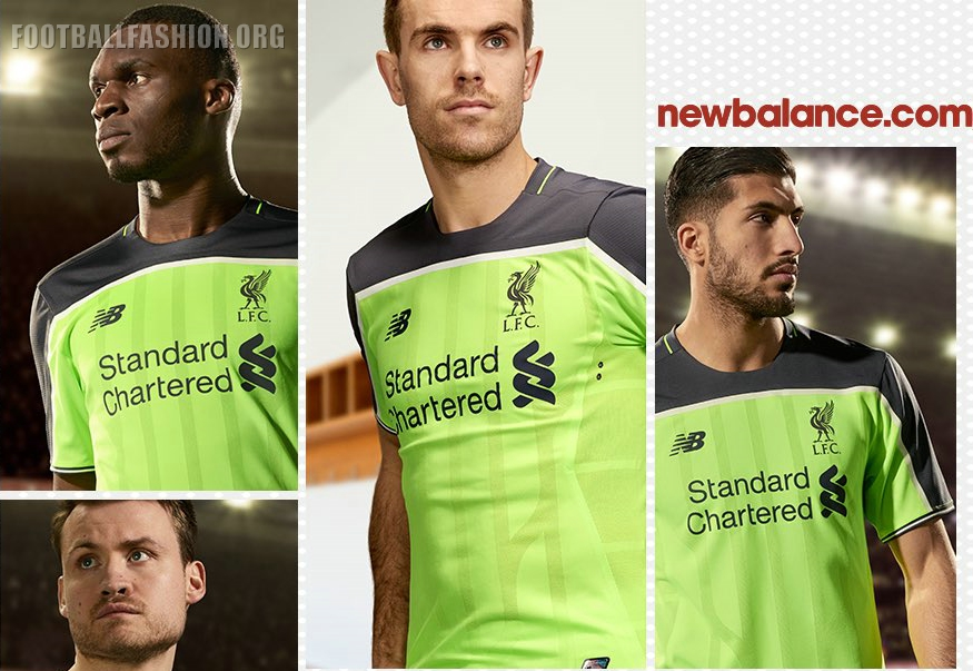 size 40 28763 888fa Liverpool FC 2016/17 New Balance Third Kit - FOOTBALL ...