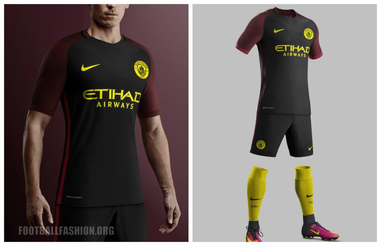 timeless design 2c274 85224 Manchester City 2016/17 Nike Away Kit - FOOTBALL FASHION.ORG
