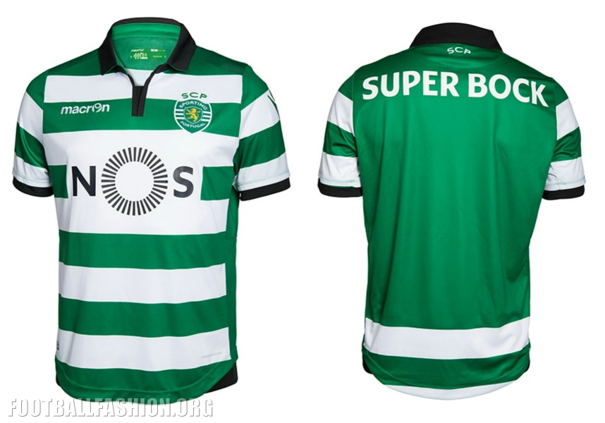 108bbce9420 Sporting Clube de Portugal 2016 2017 Macron Football Kit, Soccer Jersey,  Shirt, Camiseta